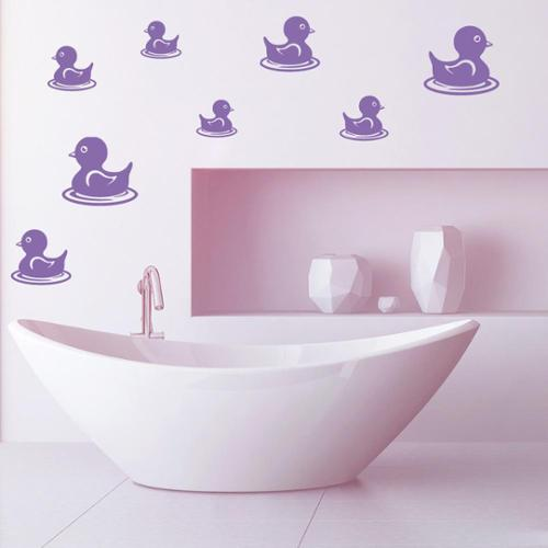 Duckling Set Wall Decal Vinyl Art Home Decor Light brown 39in x 39in