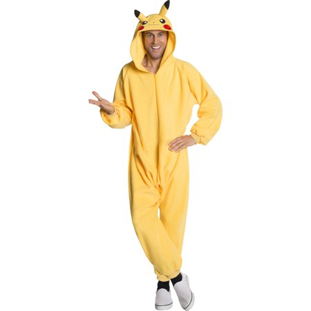 Pokemon Pikachu Onesie Unisex Adult Halloween Costume - Walmart.com