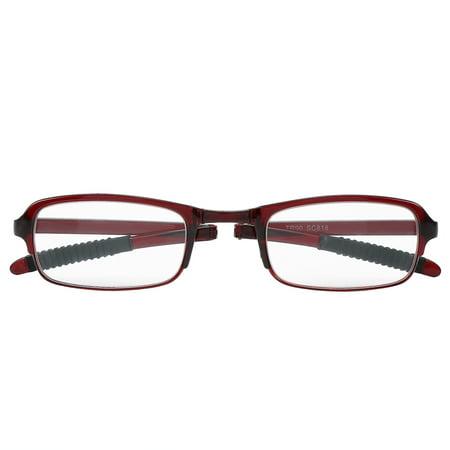 WALFRONT Portable Presbyopic Glasses Folding Reading Eyeglasses Elderly Lightweight Foldable Glasses (Folding Eyeglasses)