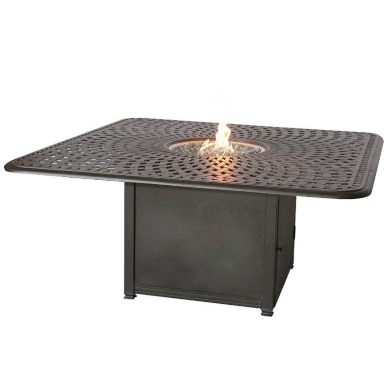 "Darlee 64"" Square Patio Counter Height Propane Fire Pit T..."