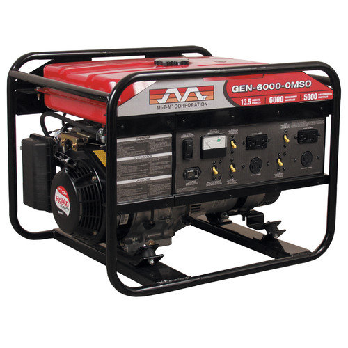 Mi-T-M 6,000 Watt Gasoline Generator with Electric Start