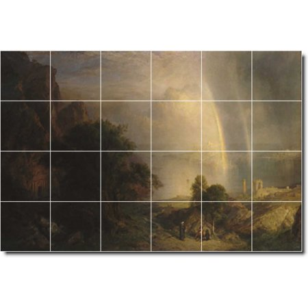 Ceramic Tile Mural Frederic Church Landscapes Painting 234 25 5 w x 1
