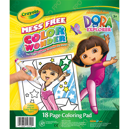 Crayola Nickelodeon Dora the Explorer Color Wonder 18-Page Coloring Pad