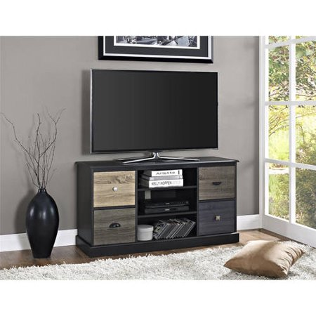 "Ameriwood Home Blackburn 50"" TV Console with Multicolored Door Fronts, Black"