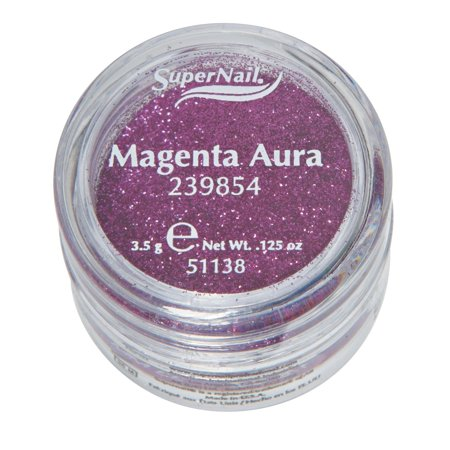 Supernail Glitter Magenta Aura 0.125oz 3.5g (Glitter Air)
