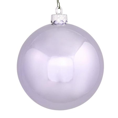 NorthLight 6 in. Shiny Lavender Purple Commercial Shatterproof Christmas Ball Ornament