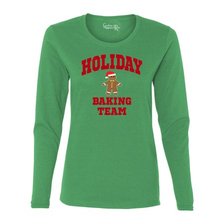 Holiday Clothes For Ladies (Holiday Baking Team Christmas Cookies Womens Long Sleeve T-Shirt)