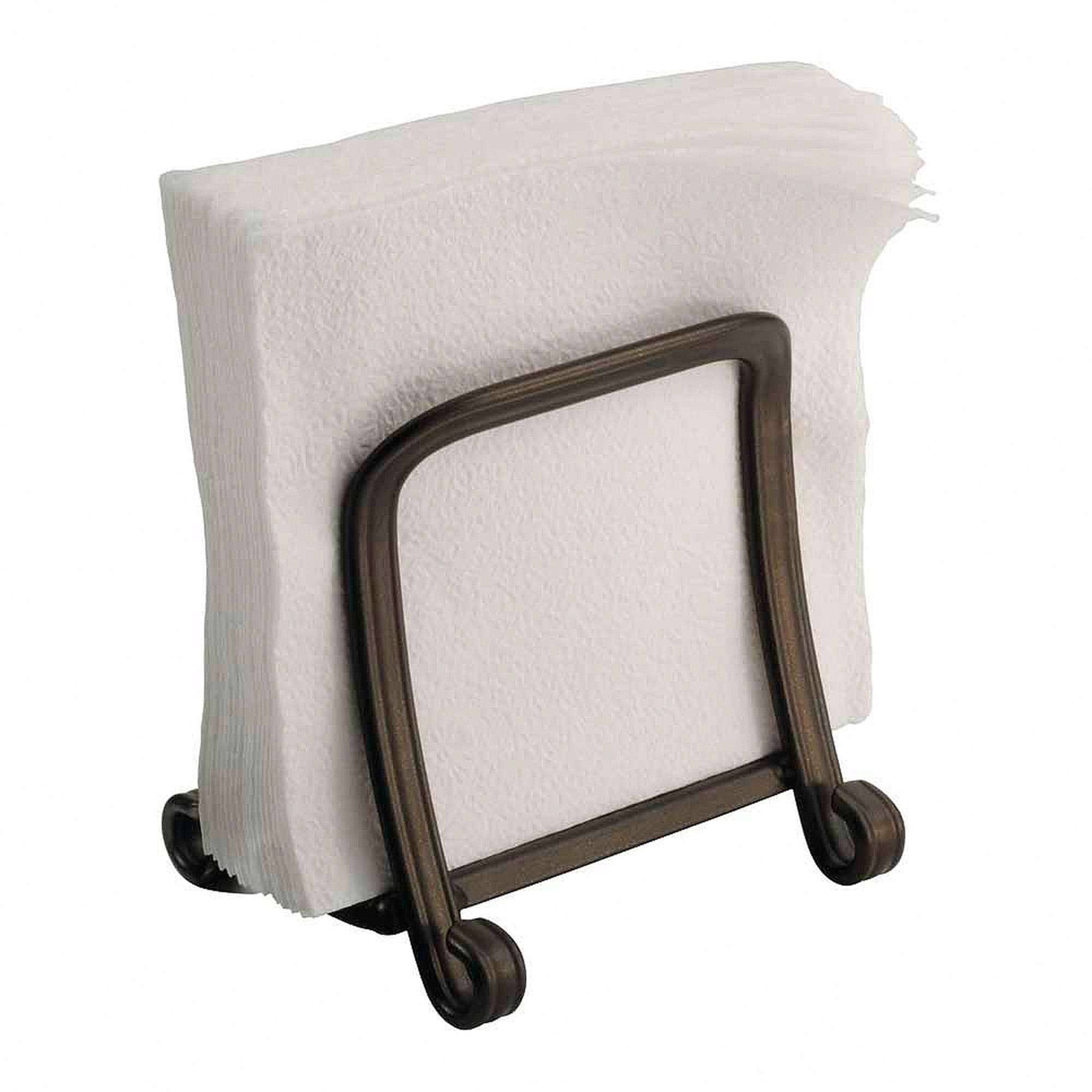 interdesign york houseware grip napkin holder for kitchen countertops table bronze walmartcom