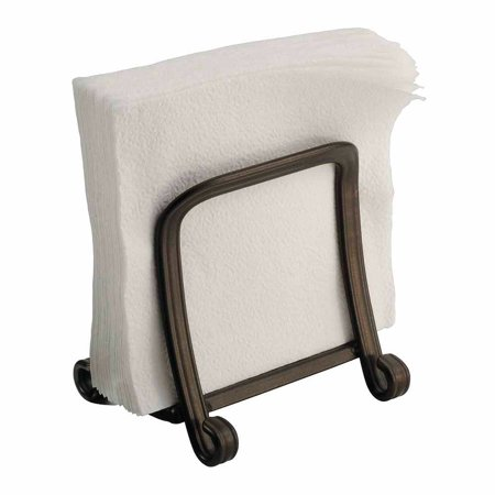 InterDesign York Houseware, Grip Napkin Holder for Kitchen Countertops, Table,