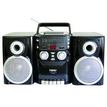 NAXA Portable CD Player with AM_FM Stereo Radio Cassette ...