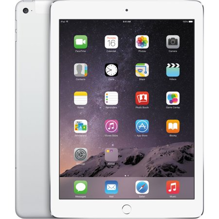 Apple iPad Air 2, 9.7in, Wi-Fi, 128GB, Silver (MNV62LL/A)
