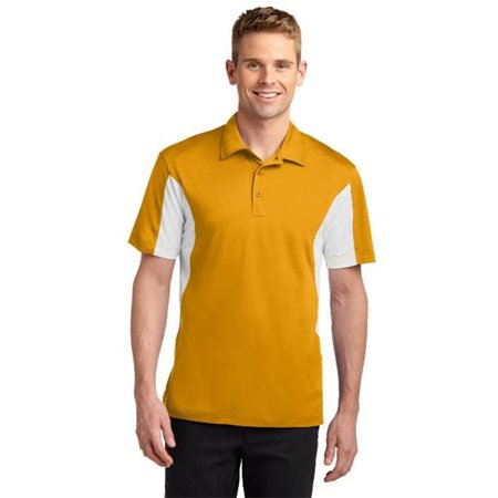 Sport-Tek® Side Blocked Micropique Sport-Wick® Polo. St655 Gold/White M - image 1 of 1