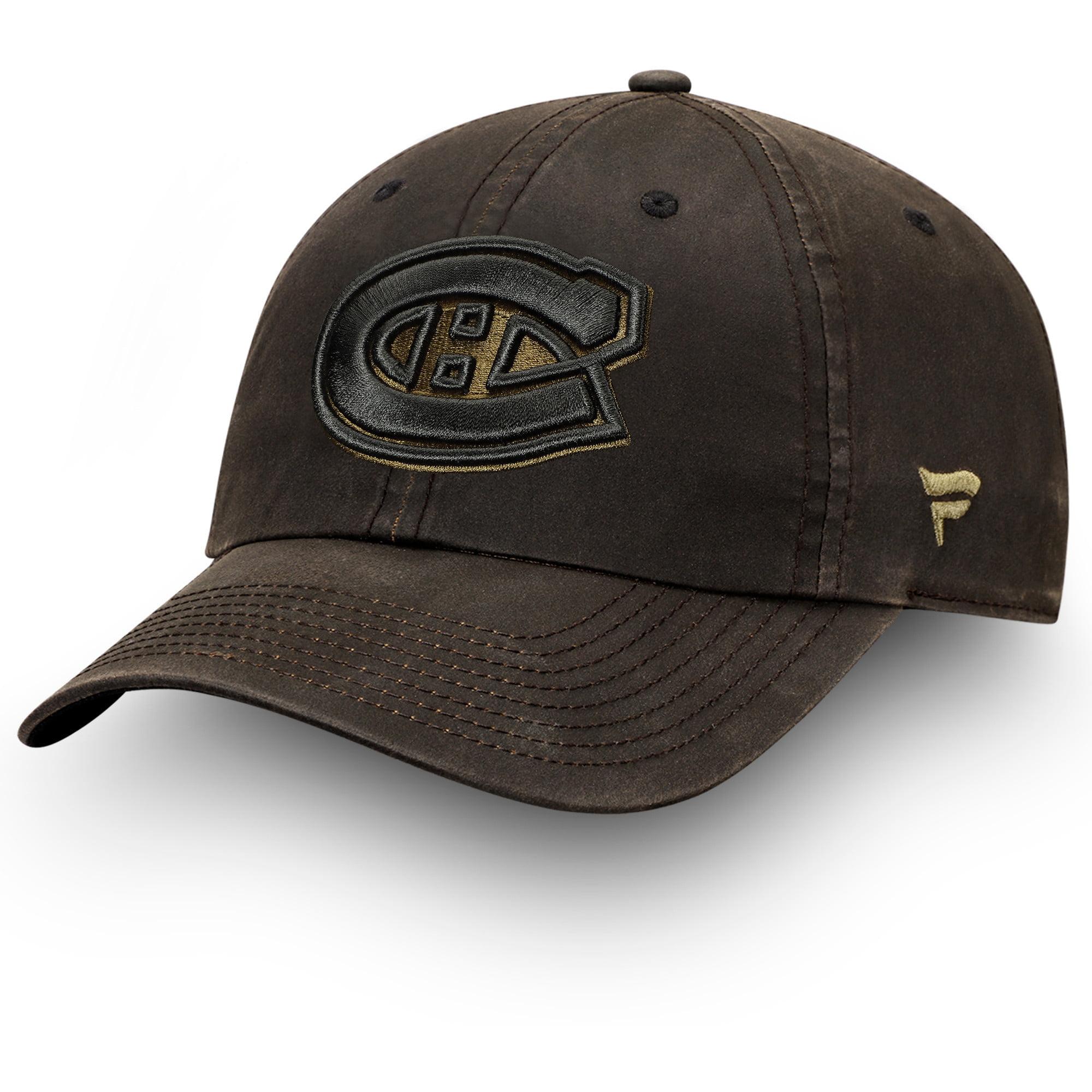 Montreal Canadiens Fanatics Branded Lux Fundamental Adjustable Hat - Brown/Olive - OSFA