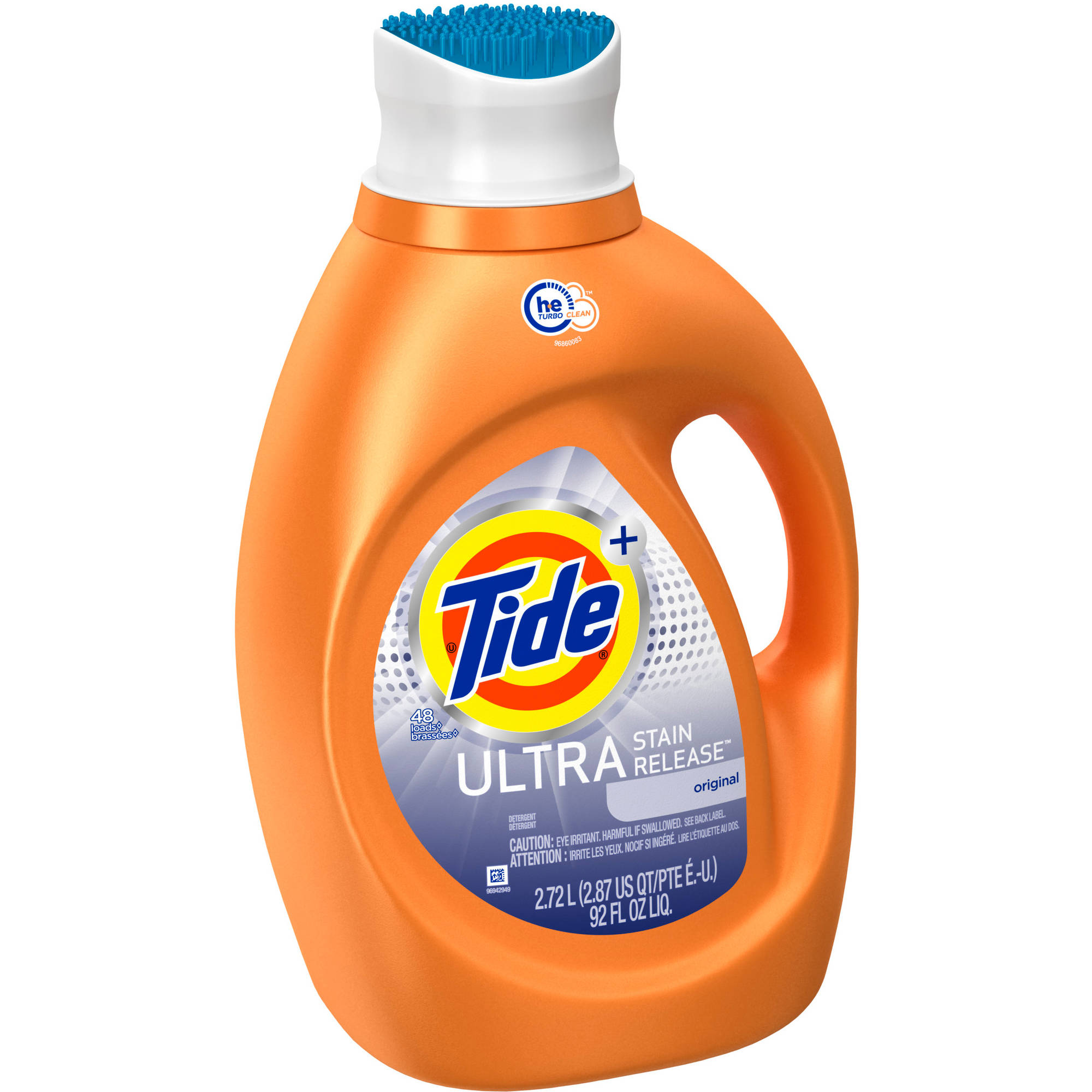 Tide Ultra Stain Release HE Turbo Clean Liquid Laundry Detergent, 48 Loads 92 oz