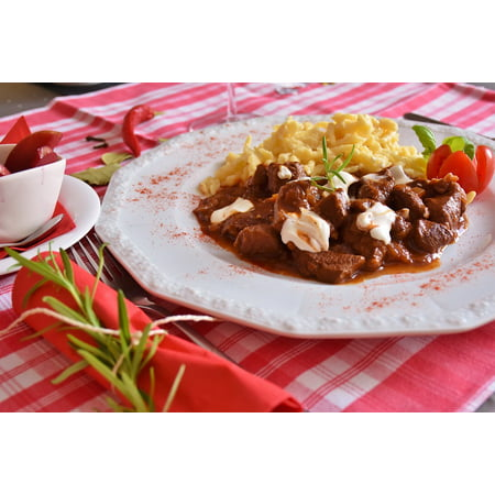 LAMINATED POSTER Game Goulash Court Wild Game Meat Meat Goulash Poster Print 24 x