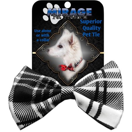 Dog Bow Tie Plaid White ()