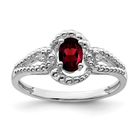 Accent Ring Jewelry (0.66ct Oval Cut Garnet and Diamond Accent Engagement Ring, Size 10)