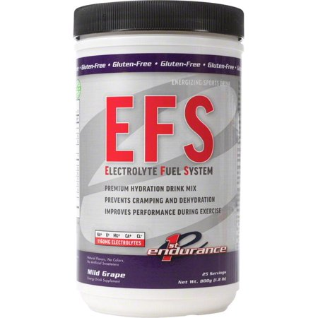 First Endurance EFS Drink Mix: Mild Grape 25 Serving - First Need Canister