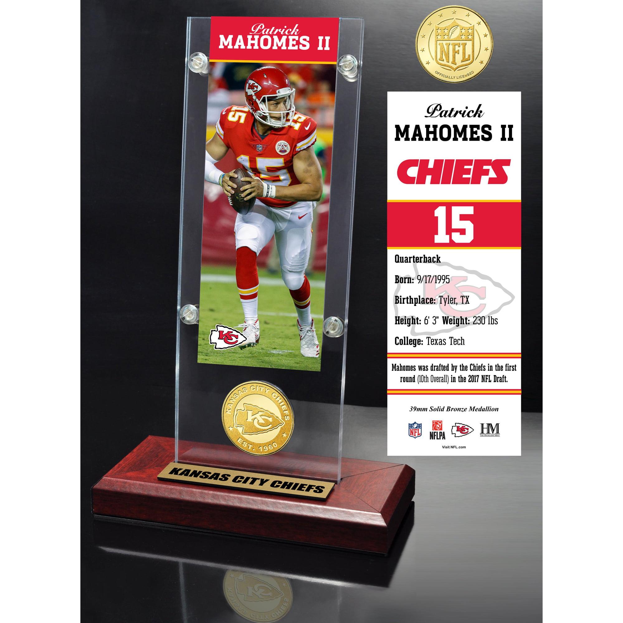 """Kansas City Chiefs Highland Mint Patrick Mahomes 3.5"""" x 9"""" Player Ticket Acrylic - No Size"""