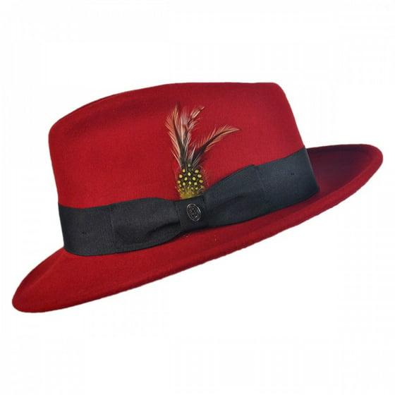 Pachuco Crushable Wool Felt Fedora Hat - S - Red - Walmart.com fffde7b25ae