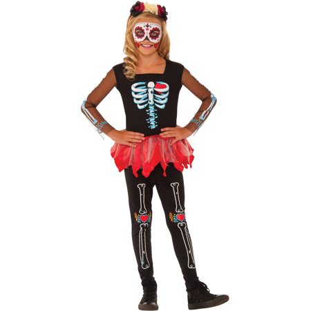 Sscared To The Bone Child Halloween Costume - Dem Bones Halloween