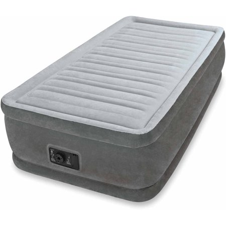 Intex Twin 18  Elevated Premium Comfort Airbed Mattress With Built In Pump
