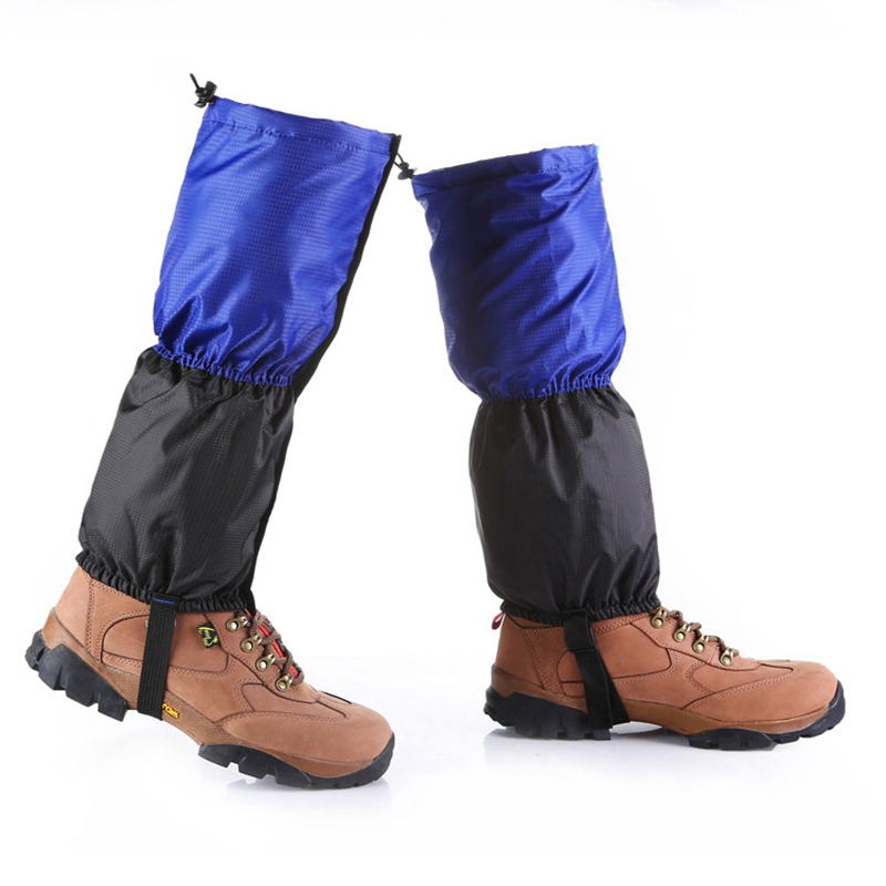 Waterproof Outdoor Hiking Climbing Hunting Snow Ankle Legging Gaiter Blue L