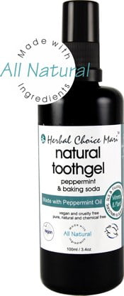 Herbal Choice Mari Natural Toothgel Peppermint & Baking Soda 100ml/ 3.4oz