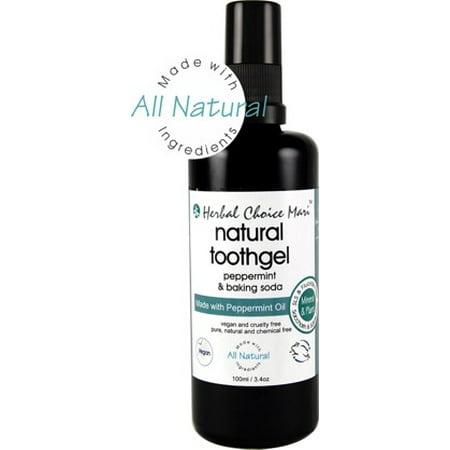 Herbal Choice Mari Natural Toothgel Peppermint & Baking Soda 100ml/ 3.4oz