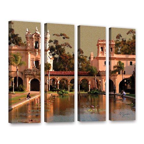 ArtWall Lily Pond, Balboa Park By George Zucconi 4 Piece