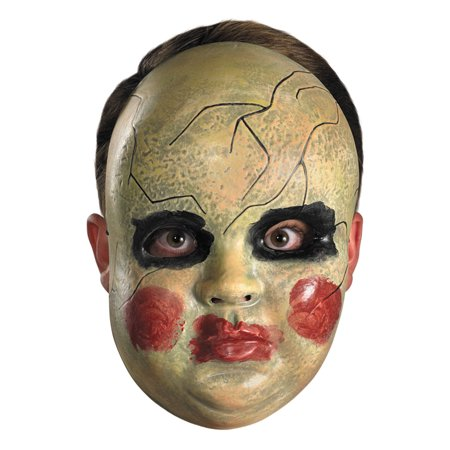 Smeary Doll Facemask Adult Halloween - Doll Halloween Mask