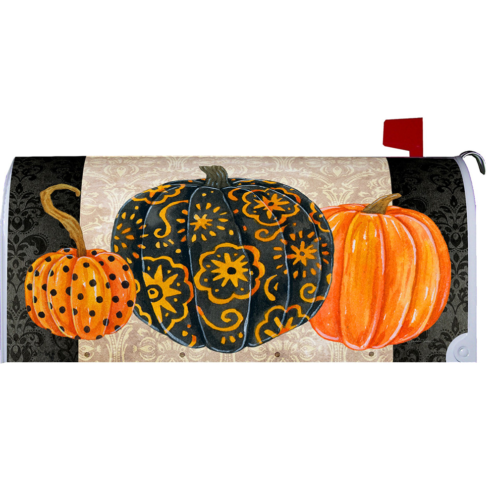 Custom Decor Elegant Pumpkins Mailbox Cover