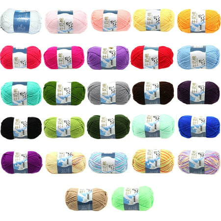 - Holiday TimeMulti Color Warm DIY Milk Cotton Yarn Baby Sweater Yarn Knitting Children Hand Knitted Knit Blanket Crochet Yarn