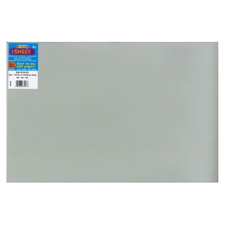 Darice Foamies Gray Foam Sheet, 12 x 18 inches, 1