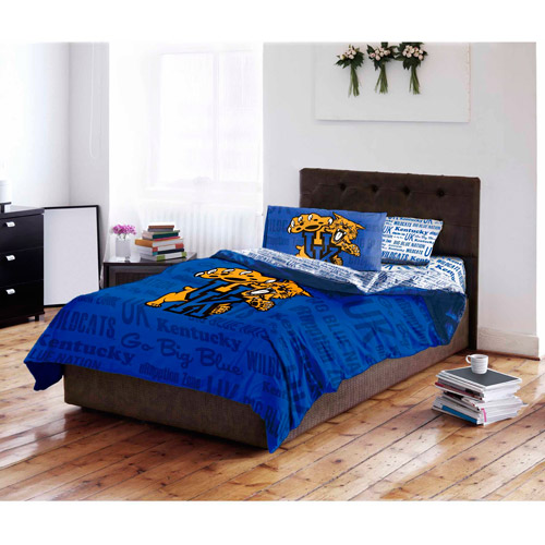NCAA University of Kentucky Wildcats Twin Bed in a Bag Complete Bedding Set