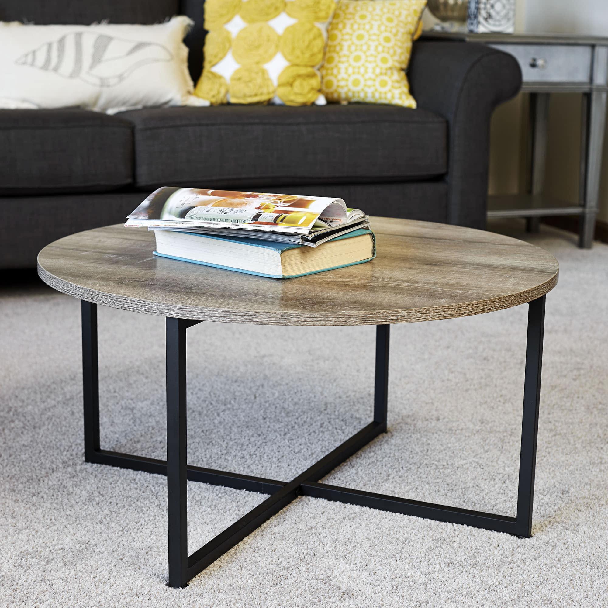 - Household Essentials Ashwood Round Coffee Table - Walmart.com