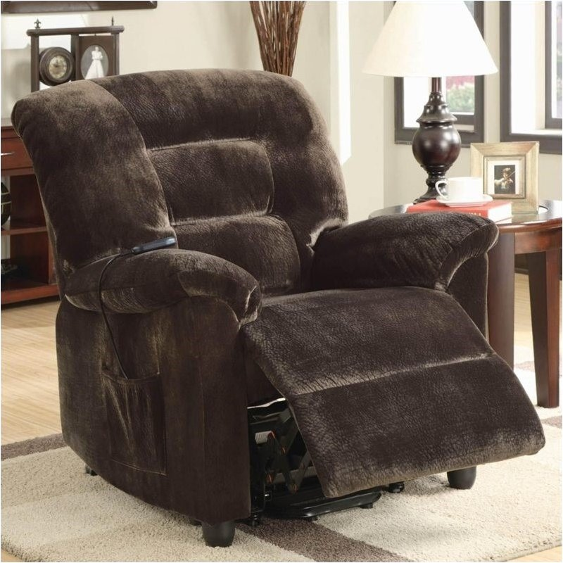 Bowery Hill Power Lift Recliner in Chocolate by Bowery Hill