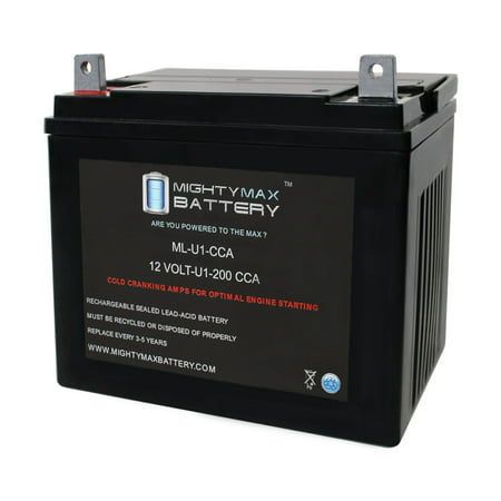 ML-U1 12V 200CCA Battery for John Deere Lawn and Garden Ride on Mower