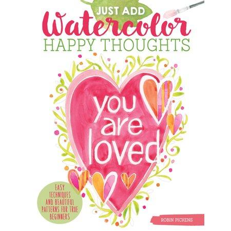 Watercolor Original Painting - Design Originals-Just Add Watercolor Happy Thoughts