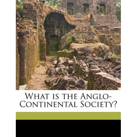 What Is The Anglo Continental Society  Volume Talbot Collection Of British Pamphlets