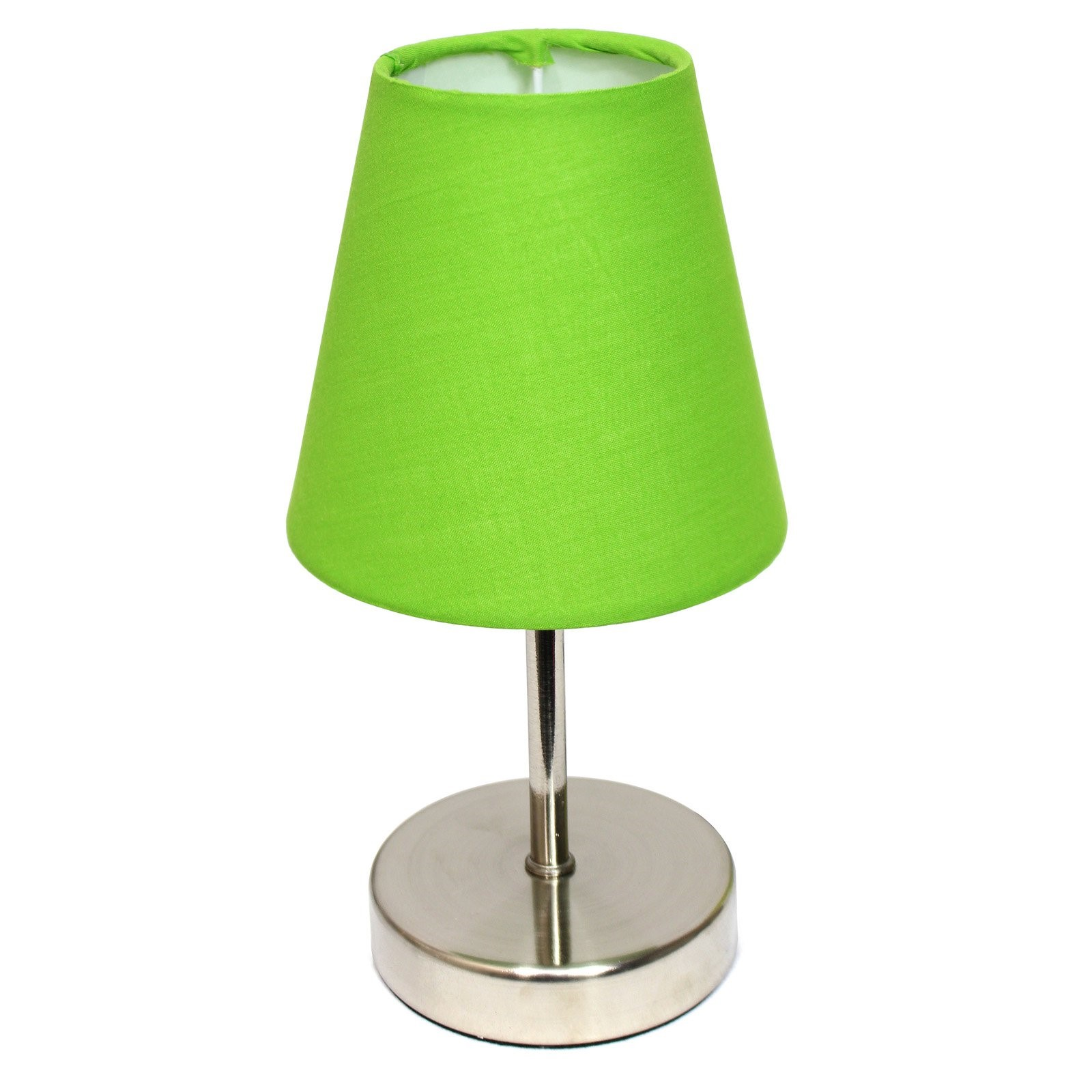 Simple Designs Sand Nickel Mini Basic Table Lamp with Fabric Shade by All the Rages Inc