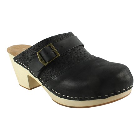 cd9c33f3893 TOMS - New TOMS Womens Elisa Clog Leather Heeled Clogs - Walmart.com