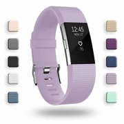POY For Fitbit Charge 2 Bands, Adjustable Replacement Sport Strap Accessories with Fasteners and Metal Clasps Large Small