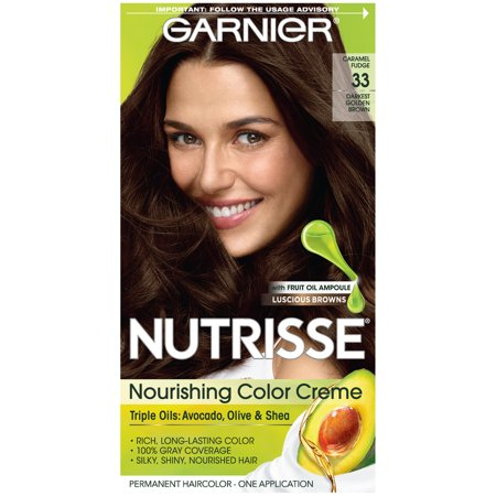 Garnier Nutrisse Nourishing Hair Color Creme Browns 33 Darkest