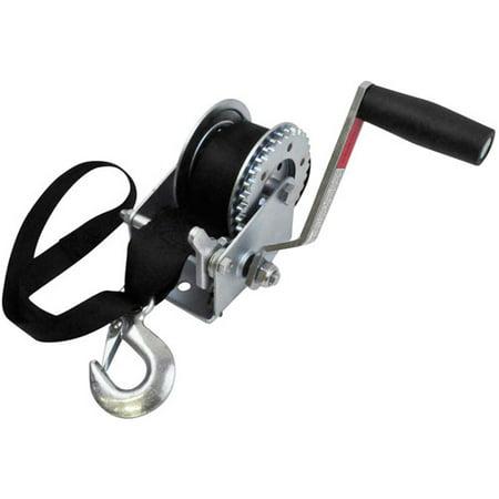 Pwc Winch Strap (SeaSense 900 lbs Zinc-Plated PWC Trailer Winch, 12' Strap )