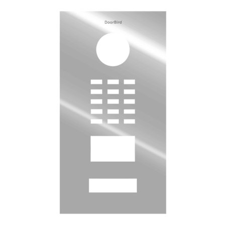 DoorBird Faceplate for D2101V IP Video Door Station Brushed Stainless Steel Chrome - Vandal Door Station Stainless Steel