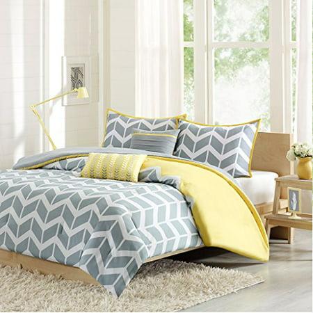 Intelligent Design Nadia Comforter Set Full Queen Yellow