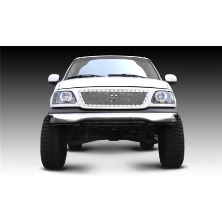 TRex Grilles 6715800 Small Mesh Stainless Polished Finish XMetal Grille Insert for Ford F150