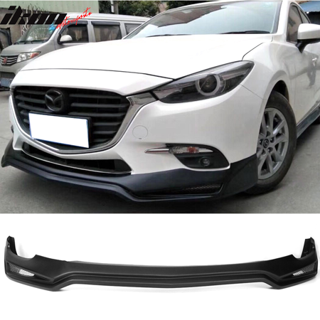 Fits 17 Mazda 3 V3 Style Front Bumper Lip - PP