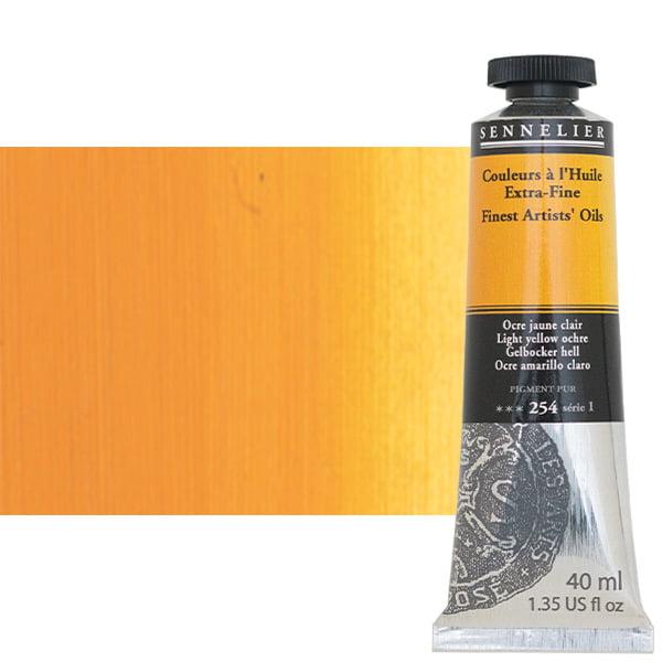 Sennelier Artists' Oil Paints-Extra-Fine 40 ml Tube - Light Yellow Ochre